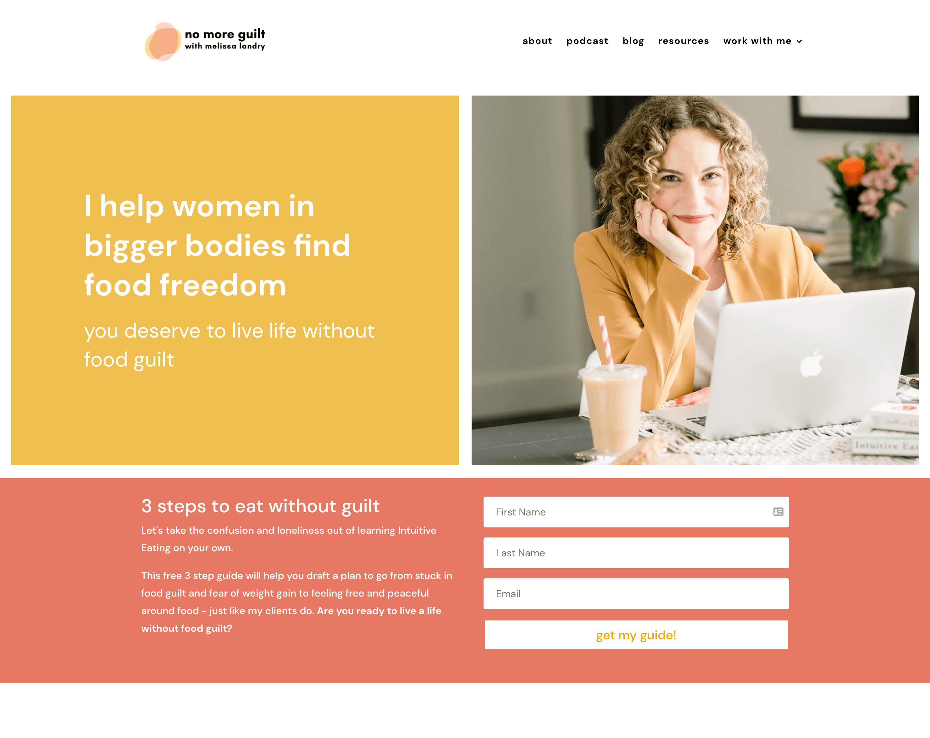 Dietitian website